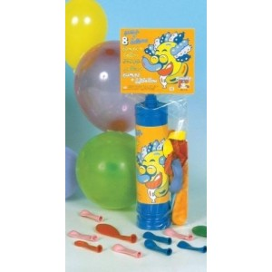 Busta con pompa e 8 palloni