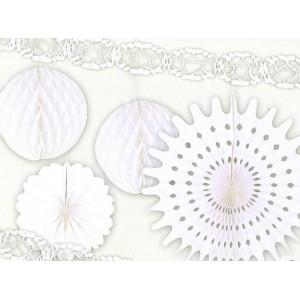 Set decorazione 6 pz Bianco