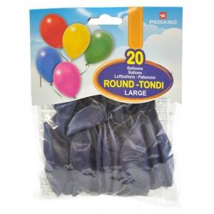 Busta 20 palloncini large Blu