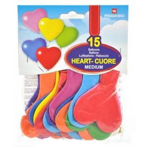Busta 15 palloncini Cuore...