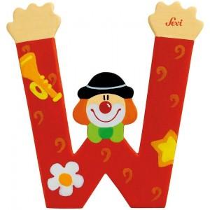 Lettera W Clown