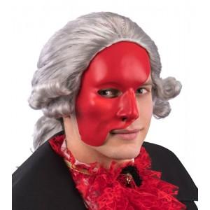 Maschera mezzo viso rossa...