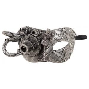 Maschera steampunk argento...