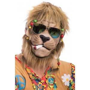 Maschera leone hippie in...