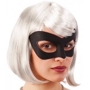 Maschera nera in tessuto in...