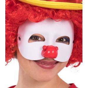 Maschera clown mezzo viso...