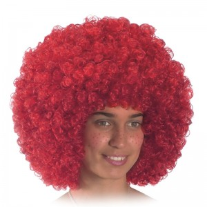 Parrucca ricciolona rossa...