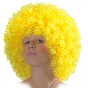 Parrucca ricciolona gialla...