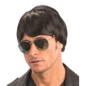 Parrucca corta nera...