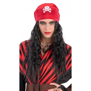 Parrucca pirata c/bandana...
