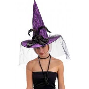 Cappello strega viola con...
