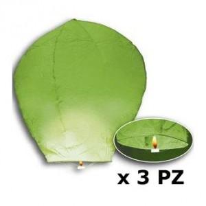 3 mongolfiere verdi h.cm.95...
