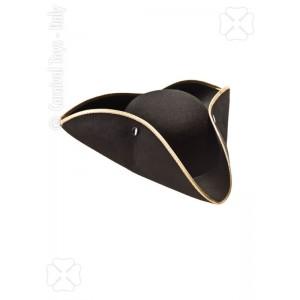 Cappello tricorno nero in...