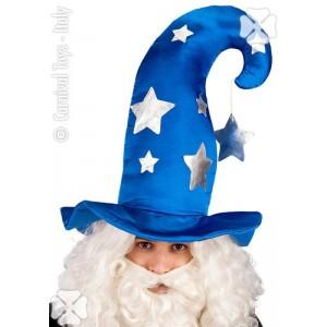 Cappello mago blu c/stelle...