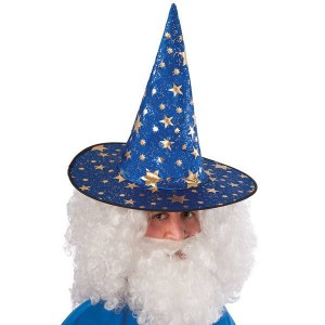 Cappello mago blu...