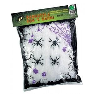 Ragnatela bianca c/4 ragni...