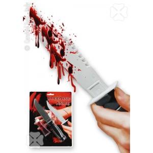 Coltello c/tubetto sangue...