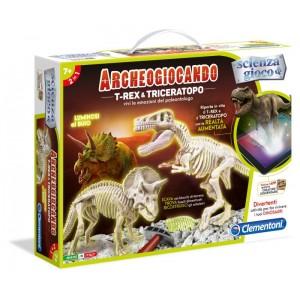 ARCHEOG- TREX & TRICERATOPO AR