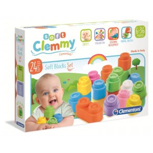 CLEMMY 24 SOFT BLOCKS SET