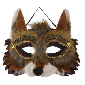 maschera volpe marrone