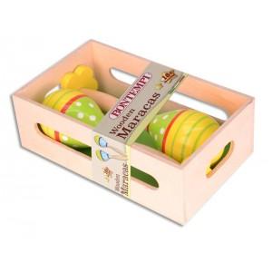 Maracas in legno colorate