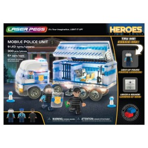 Camion della polizia con luci