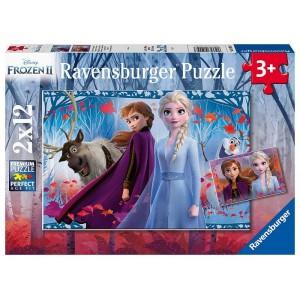 Puzzle 2x12 pz Frozen 2