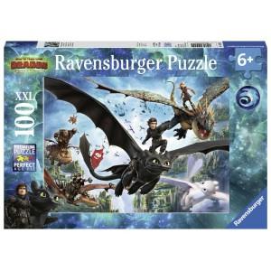 Puzzle 100 pz Dragons A