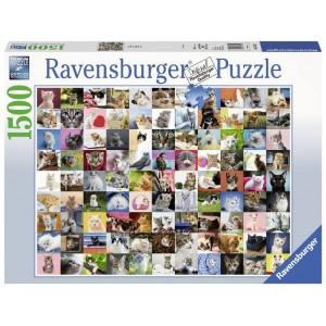 Puzzle 1500 pz 99 Gatti