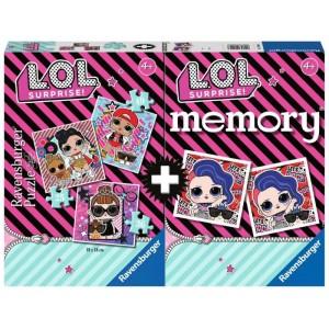 MEMORY CON 3 PUZZLE L.O.L.