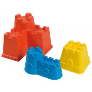 Confezione 3 formine castello