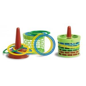 Gioco anelli con cesta