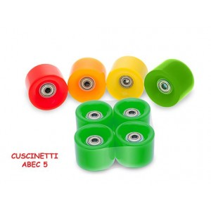 RUOTE FLUO P/SKATE ABS 51566